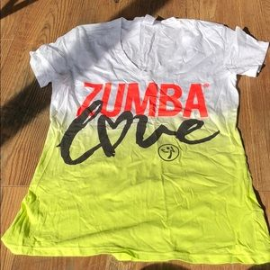 Zumba Love ZumbaFitness V Neck Tee